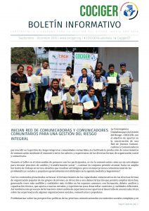 Boletín Informativo No. 05 y 06 de COCIGER_Septiembre a Diciembre 2016