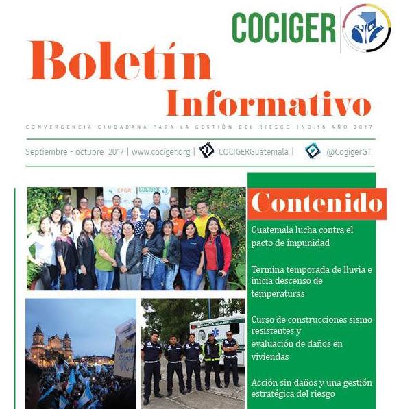 Boletín Informativo no. 17 sep – oct 2017