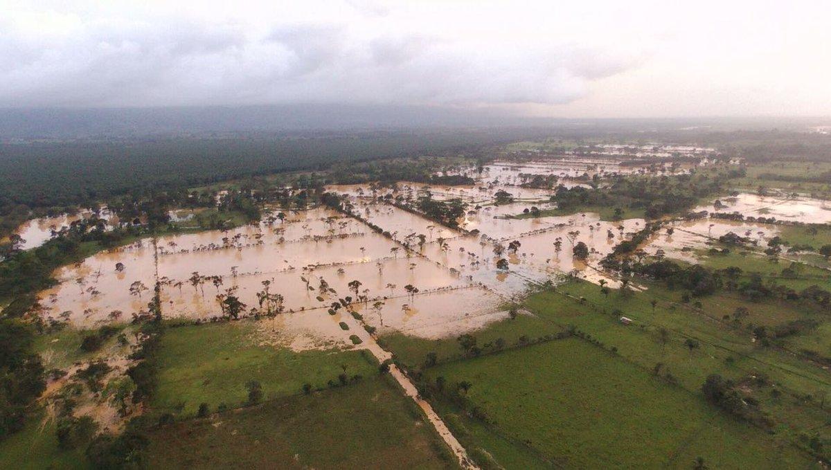 Intensas lluvias afectan el norte de Guatemala