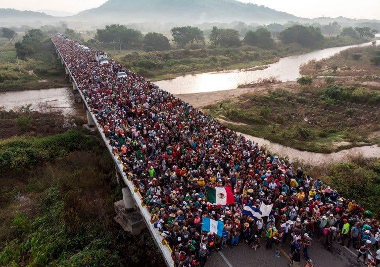 Éxodo de la población Centroaméricana