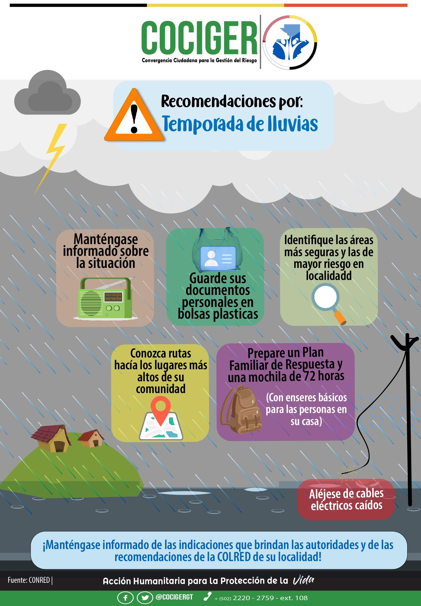 #COCIGER | Recomendaciones por inundaciones.